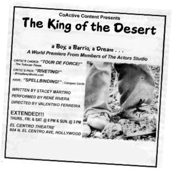 The King of the Desert - A Boy, Abarrio, A Dream